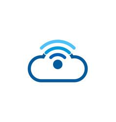 Network wifi logo icon design vector