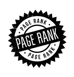 page rank rubber stamp vector image