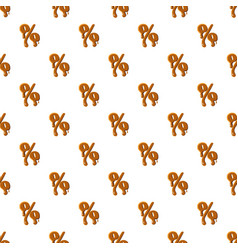 Percentage from caramel pattern vector