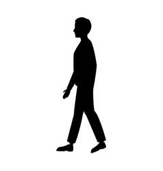 pictogram man walking people image vector image
