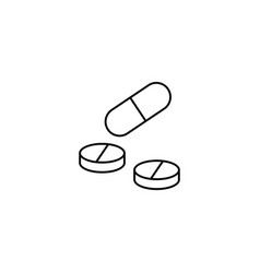 pills and tablets line icon medicine vector image