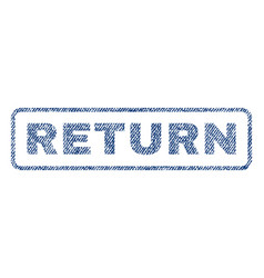 Return textile stamp vector