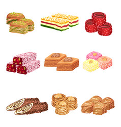 Set images oriental sweets vector