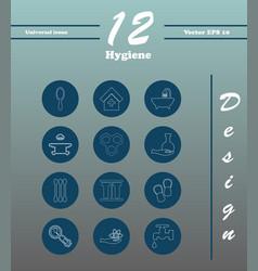 Set line icons of hygiene theme vector