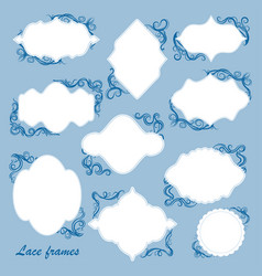 set of frames with decorative elements vector image
