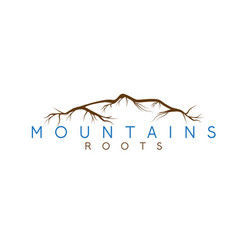 simple abstract mountains and roots vector image
