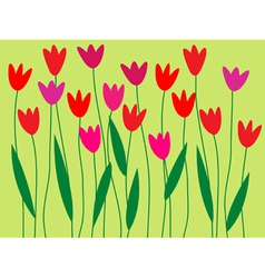 Spring flower border vector