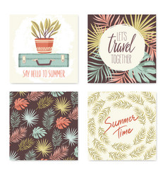 summer cards collection vector image