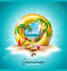 summer holiday with yellow vector image