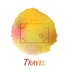 Travel Suitcase Watercolor Concept vector image