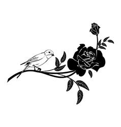 Valentinel vignette with bird vector image