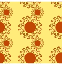 Vintage pattern seamless Hand drawn vector image