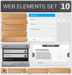 Web elements set 10 vector image