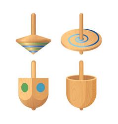 dreidel four-sided spinning top played with vector image