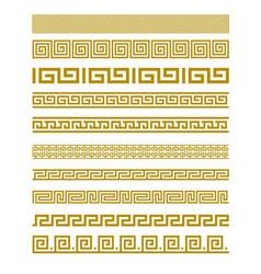 Gold Meander Patterns vector image