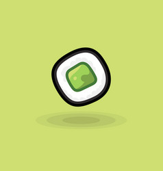 icon japanese fresh roll with cucumber vector image