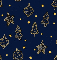 Christmas toys pattern vector image