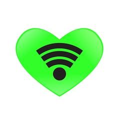 heart send signal wifi vector image vector image