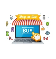 Online Shopping with App vector image