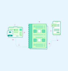 flat design of organizer vector image
