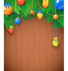 Merry Christmas Card Christmas Tree and Glass vector image