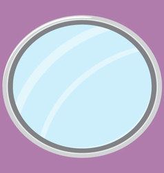 Mirror isolated oval form vector image