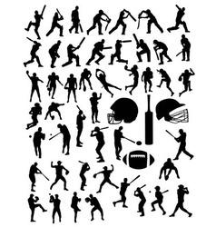 American Football Baseball and Cricket Sport vector image vector image