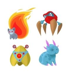Fantasy monsters set vector image