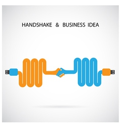 Handshake abstract sign design template vector image vector image