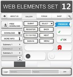 web elements set 12 vector image