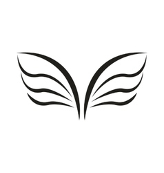 A pair of bird wings icon simple style vector image