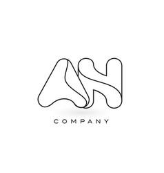 an monogram letter logo with thin black monogram vector image