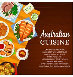 Australian cuisine australia food poster vector