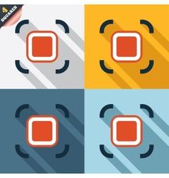 Autofocus zone sign icon Photo camera settings vector image