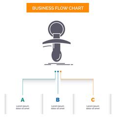 Baby dummy newbie nipple noob business flow chart vector