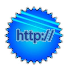 Big blue button labeled http vector