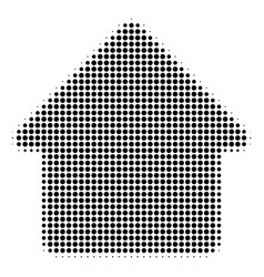 Black dotted house icon vector