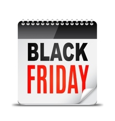 Black Friday Day Calendar vector image