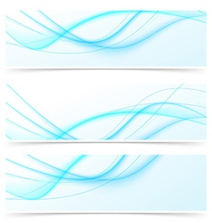Blue speed swoosh line abstract modern web banner vector