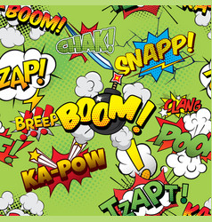 Boom seamless comics background vector