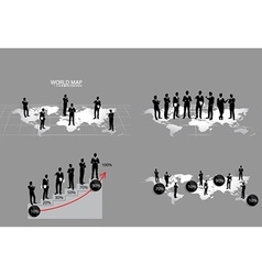 Business concept with businessman vector