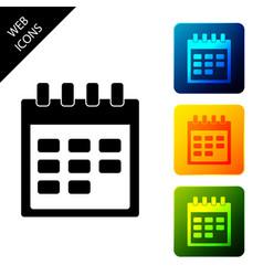 calendar icon isolated on white background set vector image