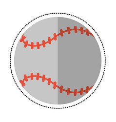 cartoon baseball ball sport game vector image
