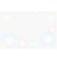 cartoon soap bubbles with reflection set isolated vector image