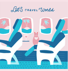 cat character sitting in chair and relax in vector image