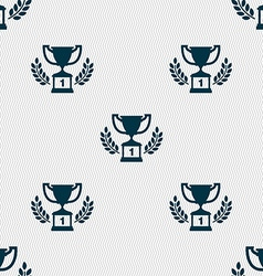 Champions cup Trophy icon sign Seamless pattern vector