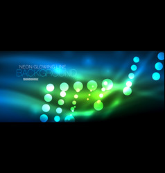circle abstract lights blue neon glowing vector image