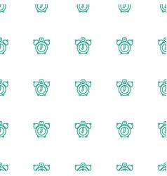 Clock alarm icon pattern seamless white background vector