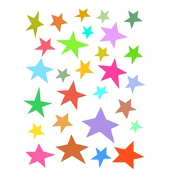 Collection irregular stars hand-drawn over whit vector