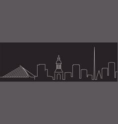 Dublin single line simple minimalist skyline vector